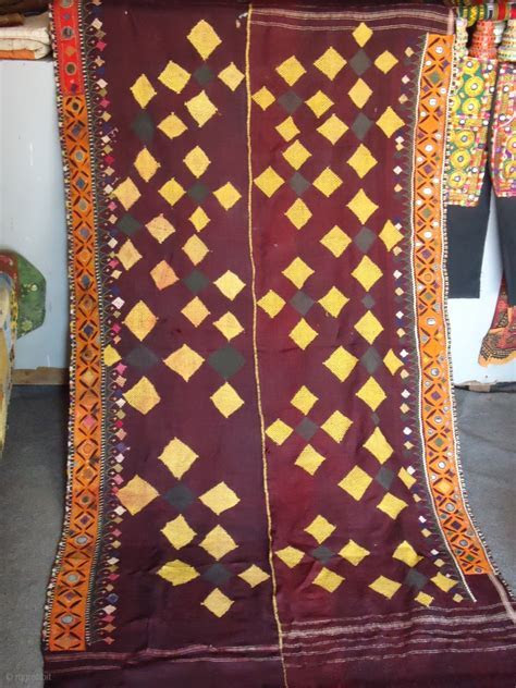 "This is a traditional shawl of ""Rabari"" community. Circa"