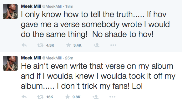 Meek Mill Goes On Wild Twitter Rant Disses Drake Says He Doesnt
