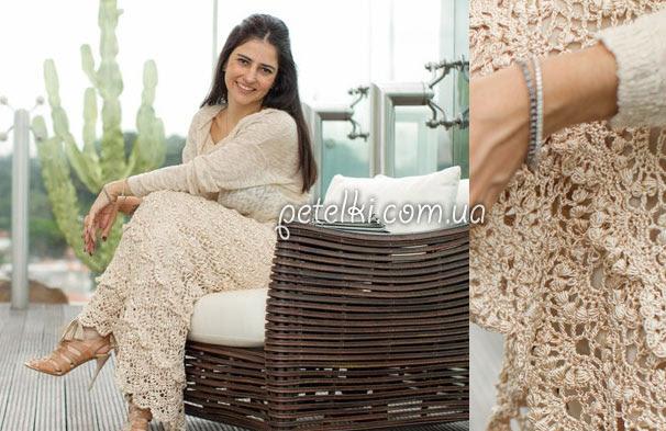 Falda larga de Vanessa Montoro.  Esquemas de tejer