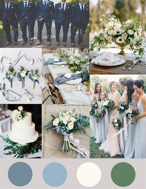 Shades of Dusty Blue, Ivory and Greenery Wedding   Bröllis