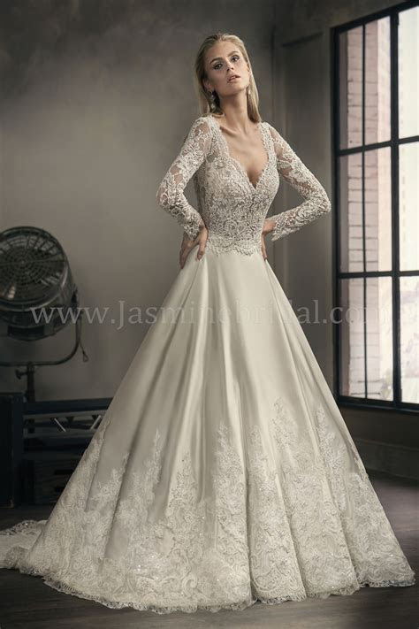 Jasmine Bridal   Couture Style T192060 in Ivory/Vintage