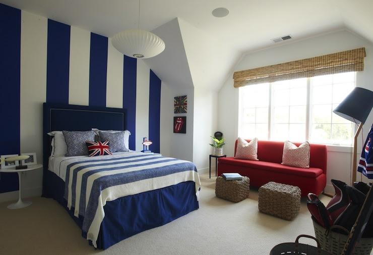 Navy Headboard - Contemporary - boy's room - Lynn Morgan Design