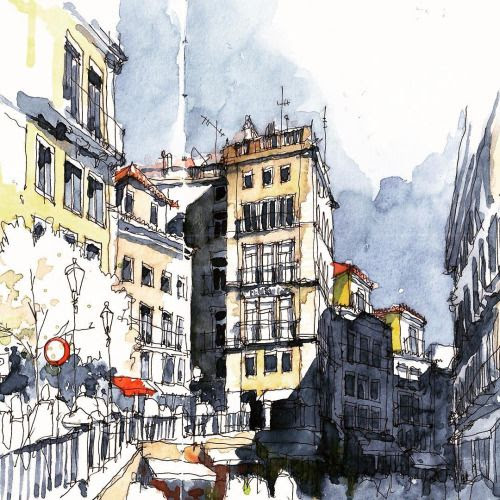 architectural water colors 23
