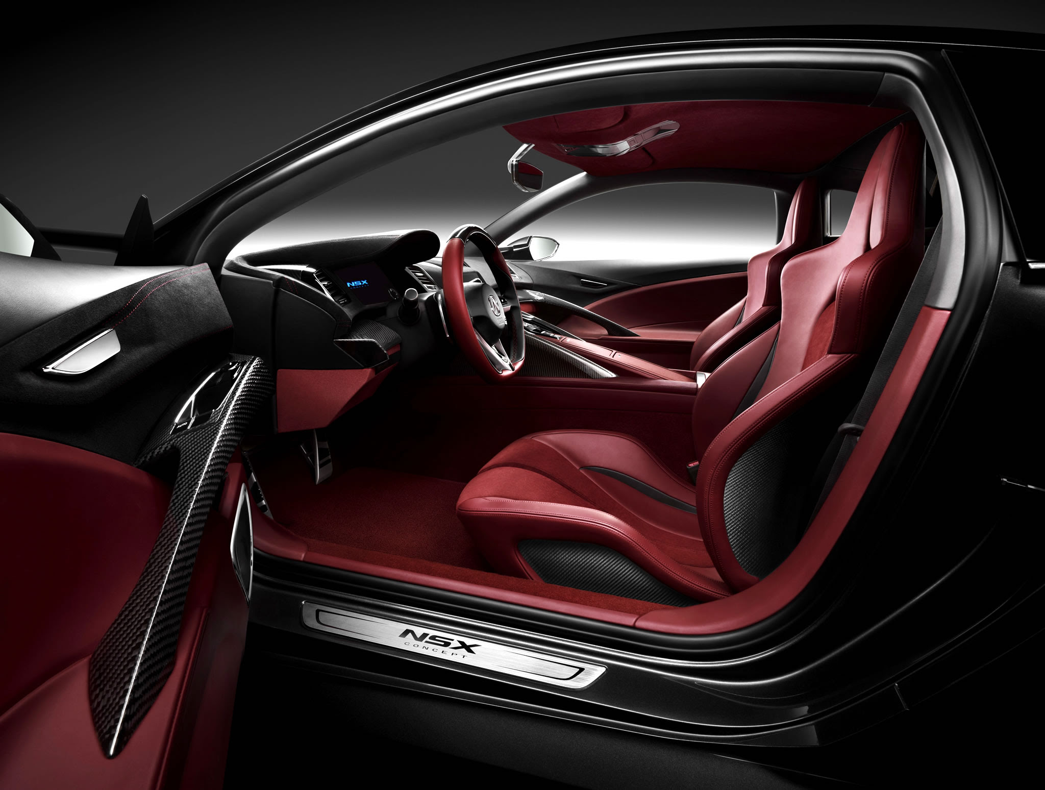 acura nsx to appear at pebble beach  interior photo red