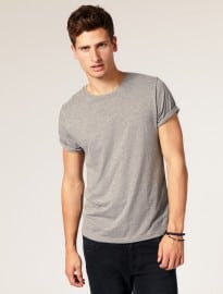 Asos T-shirt With Rolled Sleeves