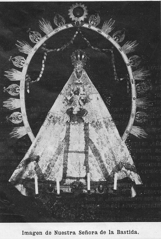 Virgen de la Bastida hacia 1925. Atribuida a Rodríguez o Santiago Camarasa