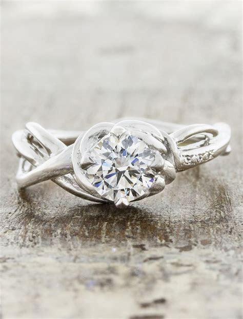 Landress: Sculptural, Organic Shaped Diamond Ring   Ken