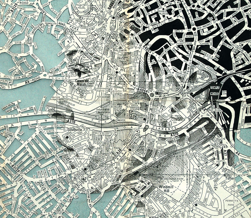 Elaborate New Portraits Drawn on Vintage Maps by Ed Fairburn portraits maps drawing