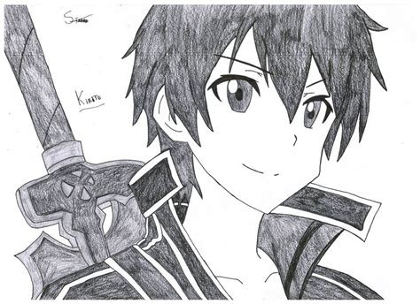 kirito  asuna sword art   stades drawing