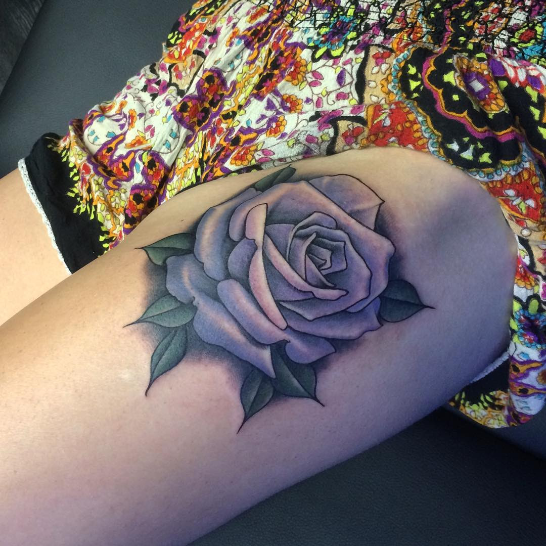 Rose Thigh Tattoo Best Tattoo Ideas Gallery