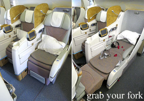 emirates business class lie-flat seat