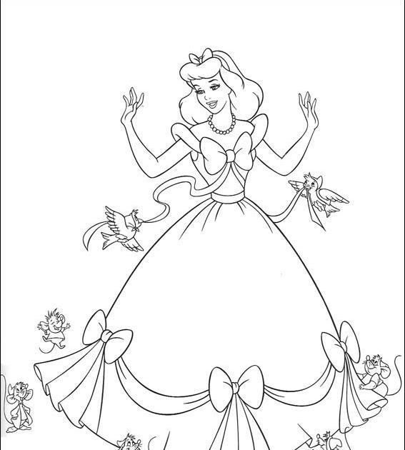 Ausmalbilder Cinderella Ausmalbilder
