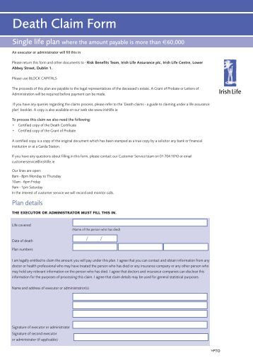 PB37126 Cyprus Claim Form (4708) - Universal Life