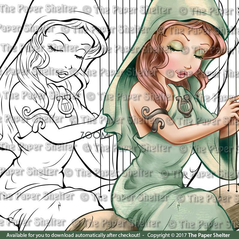 Enchanted Serenade - Digital Stamp