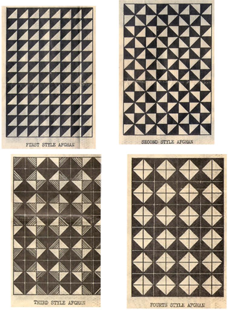 Mail Order 6542, Knitting Geometric Afghan Pattern
