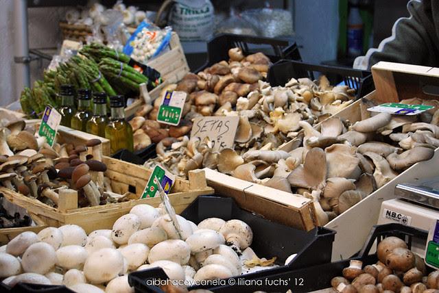 Setas en el mercado