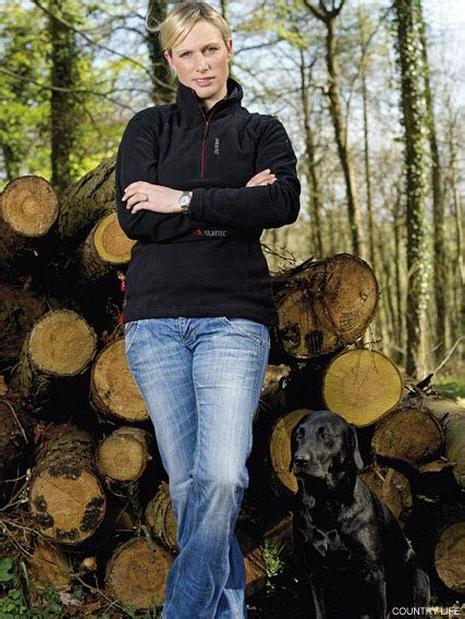 Zara Phillips strikes a pose for Country Life magazine
