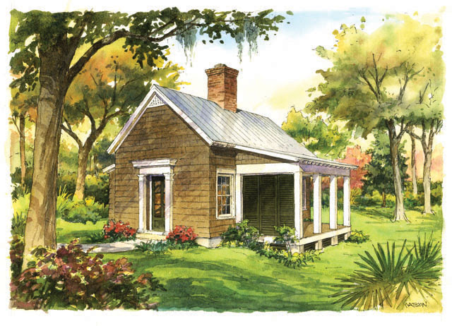 Center Chimney Garden Cottage + Plans | Content in a Cottage