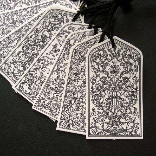 Classic Arches Gift Tags - - Black on Cream
