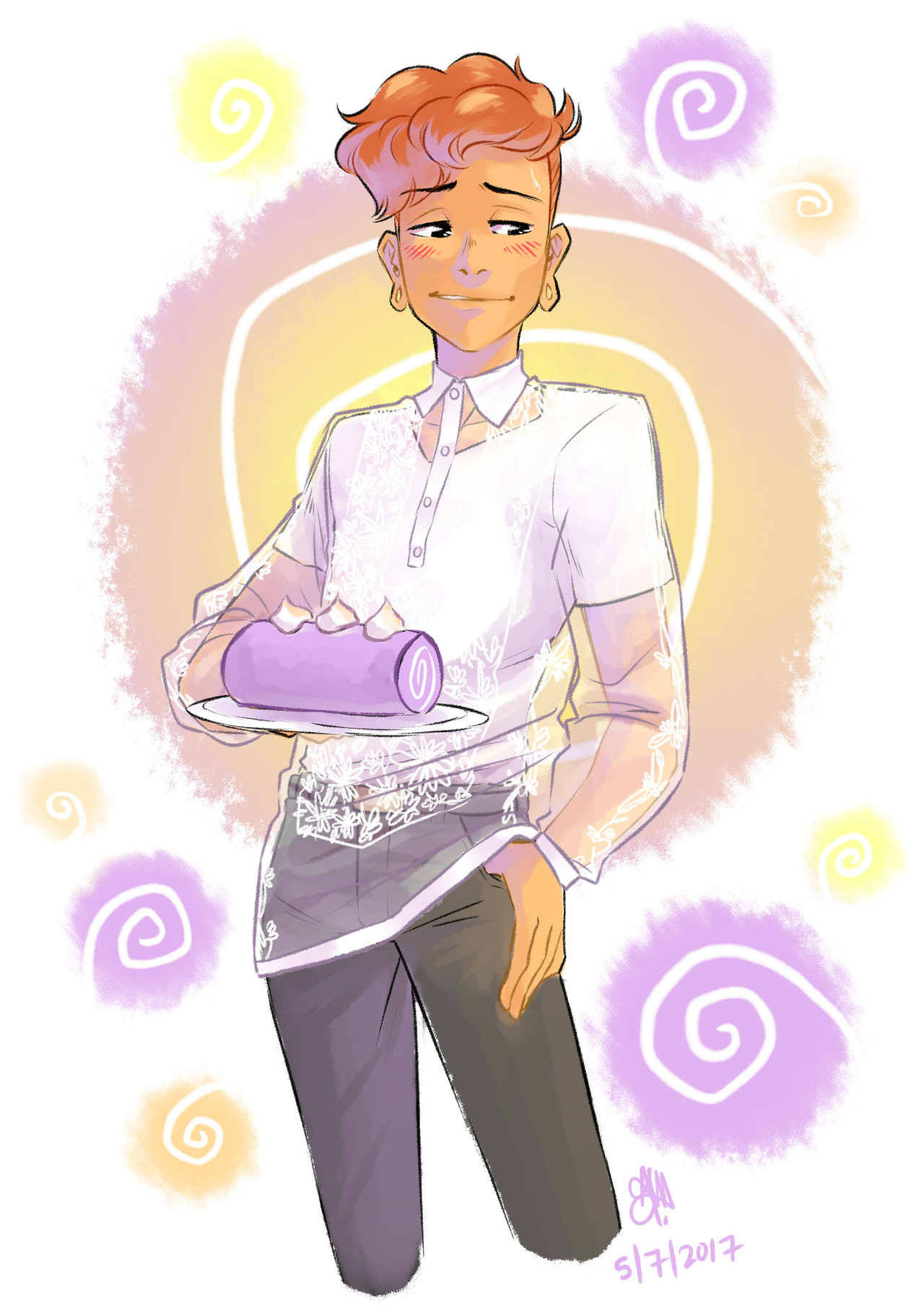 The fact that people are saying Lars is Half - Filipino is giving me so much life! I had to draw him in a barong!!!