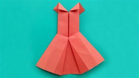 How To Make Origami Dress Tutorial   How To Make Paper