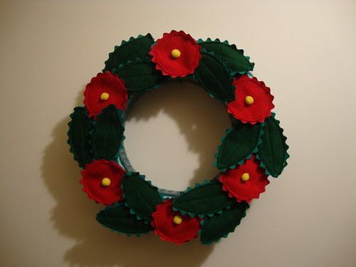 Mary Englebreit wreath I made circa ??