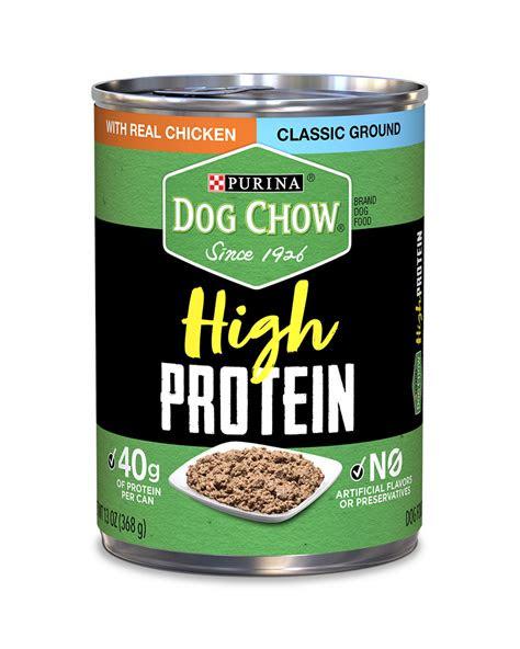 dog chow high protein wet dog food  ground chicken