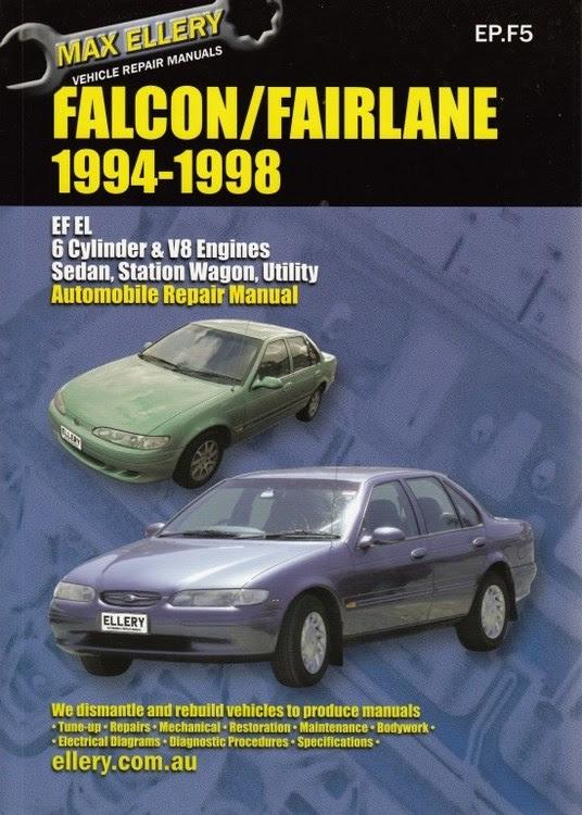 Ford Falcon Fairlane Ef El Repair Manual 1994 1998 New Workshop Car Manuals Repair Books Information Australia Integracar