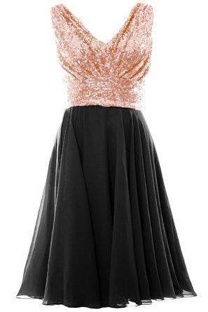 Bridesmaid Dress Style   Rose gold top and black bottom