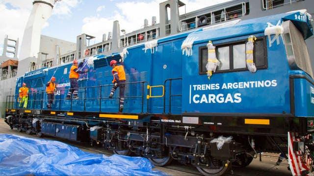 Resultado de imagen para Llegaron 20 locomotoras para el ferrocarril San Martín Cargas