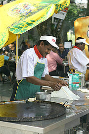 Another picture of Roti Canai making