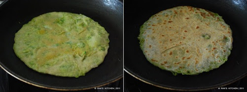 step 6 Peas paratha recipe