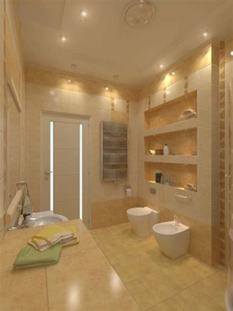 impressive modern bathroom ceiling  wall lighting ideas