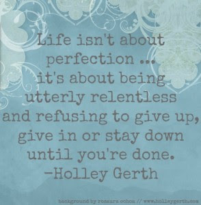 Blue Background by Rosaura Ochoa and Quote by Holley Gerth