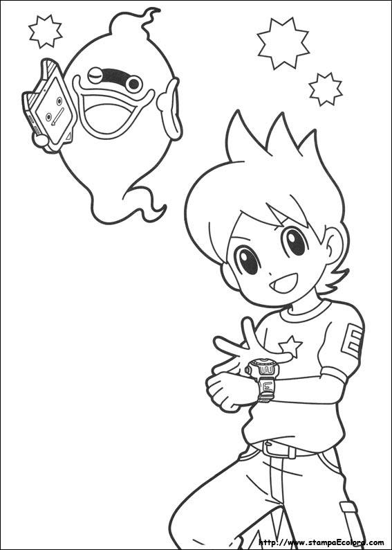 I Disegni Di Yo Kai Watch Da Stampare E Da Colorare Coloradisegni