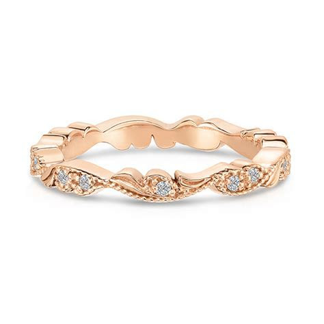 Chantilly Lace Band 18K Rose Gold   Women's Wedding Bands