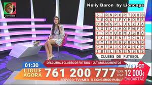 Kelly Baron sensual no programa 1000 hora