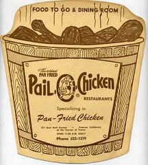 Pail O Chicken menu