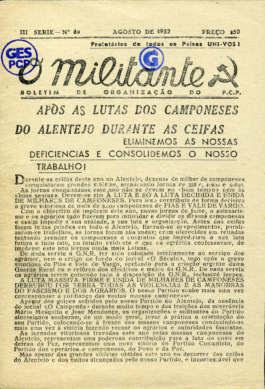 O Militante, Série 3, n.º 69 (AGO.1952)