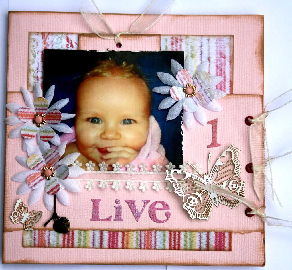 Live 1 år - fremsiden av kortet m/tag