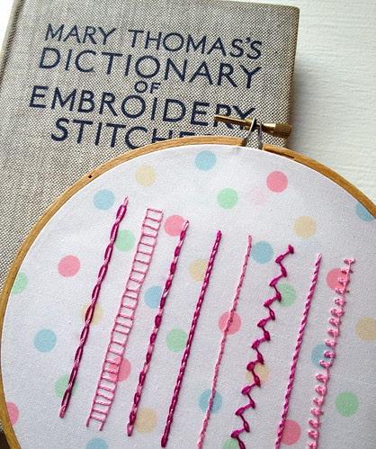 Chain Stitch Variations Sampler