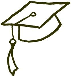 Graduation hat flying graduation caps clip art graduation cap line