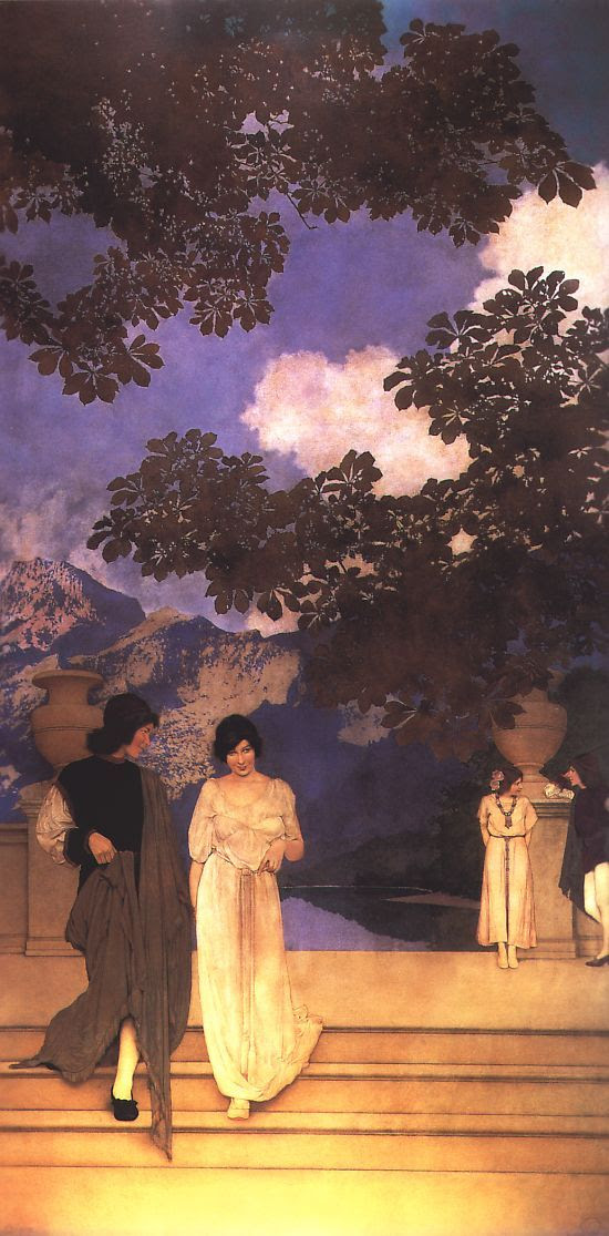 Maxfield Parrish - Garden of Opportunity
