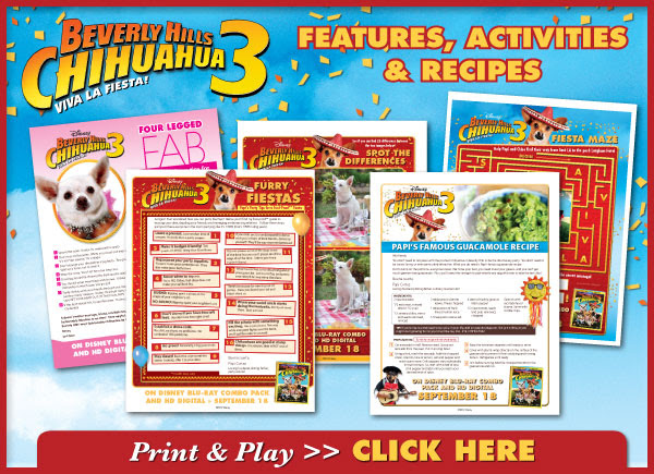 Download Beverly Hills Chihuahua 3 Activities!