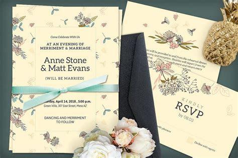 50 Wonderful Wedding Invitation & Card Design Samples