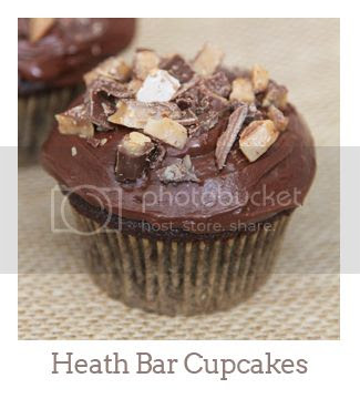 """Heath Bar Cupcakes"""