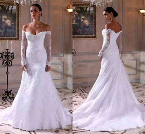 2018 Elegant Wedding Dresses Mermaid Lace Satin Mature