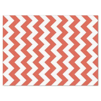 "Orange and White Zigzag Tissue Paper 17"" X 23"" Tissue Paper"