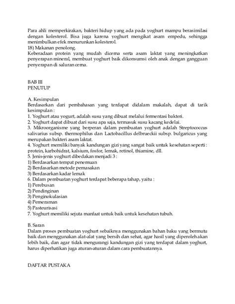 Contoh makalah bioteknologi yoghurt