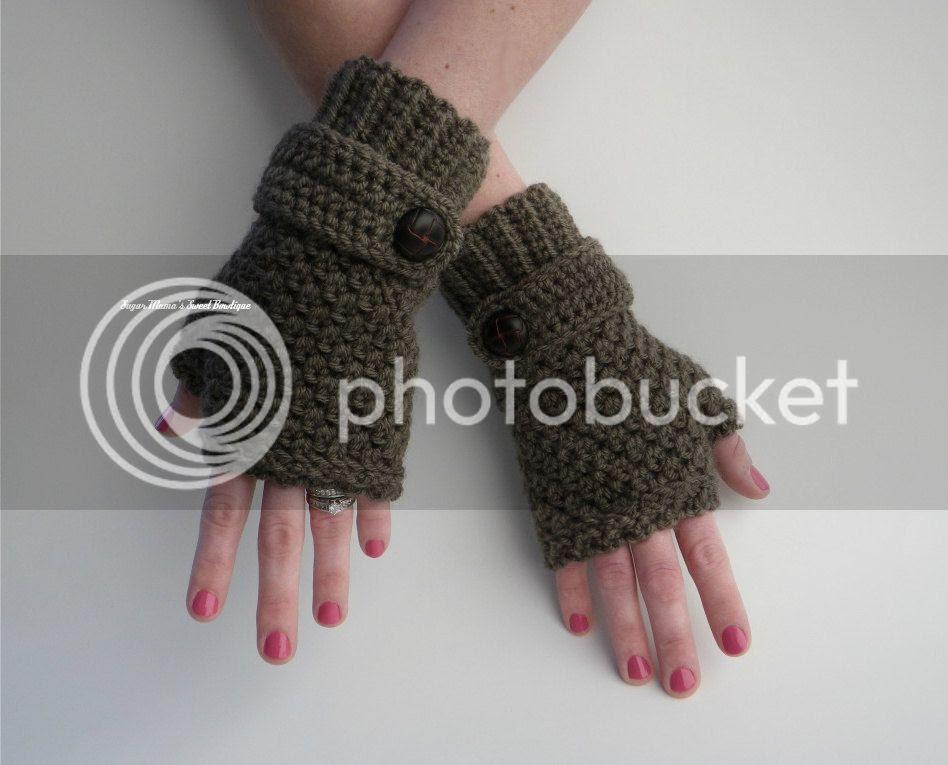 Sophie Fingerless Gloves Crochet Pattern by Amanda Moutos Designs